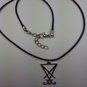 "Lucifer's Sigil Charm Necklace 18"" Rope"